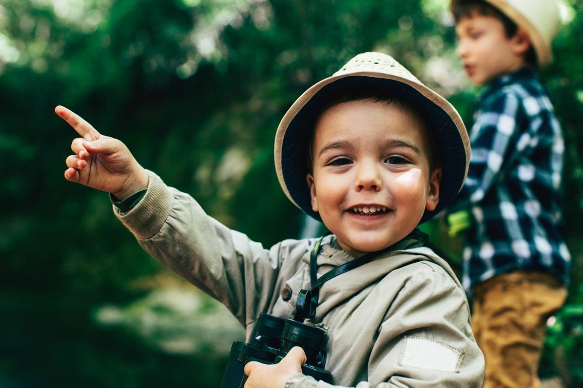 Boy on outdoors adventure